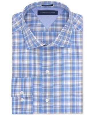 Tommy Hilfiger Beige Multi-Check Dress Shirt