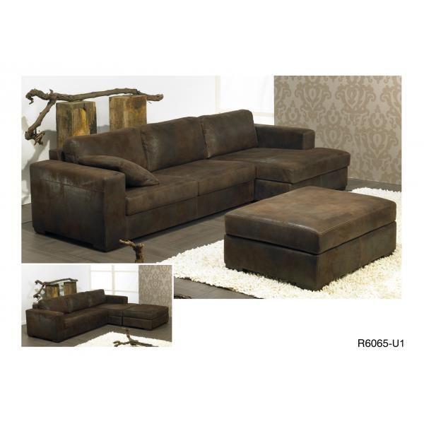 ambihome salon microfibre avec chaise longue salons. Black Bedroom Furniture Sets. Home Design Ideas