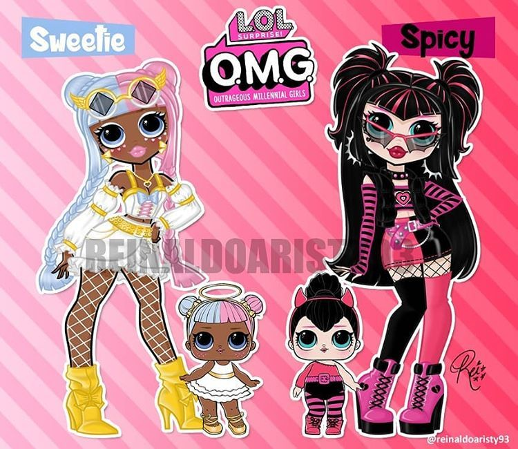 Reinaldo Aristy On Instagram My Take On Lol Surprise Sugar And Spice S Big Sisters Sweetie And Spicy Lol Dolls Cute Drawings Cute Dolls