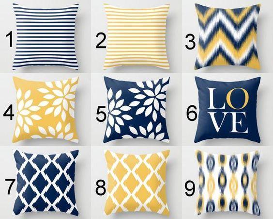 31 Ideas De Decoración Con Amarillo Y Azul Marino Para