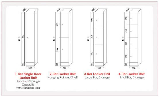 Locker sizes casa club pinterest lockers
