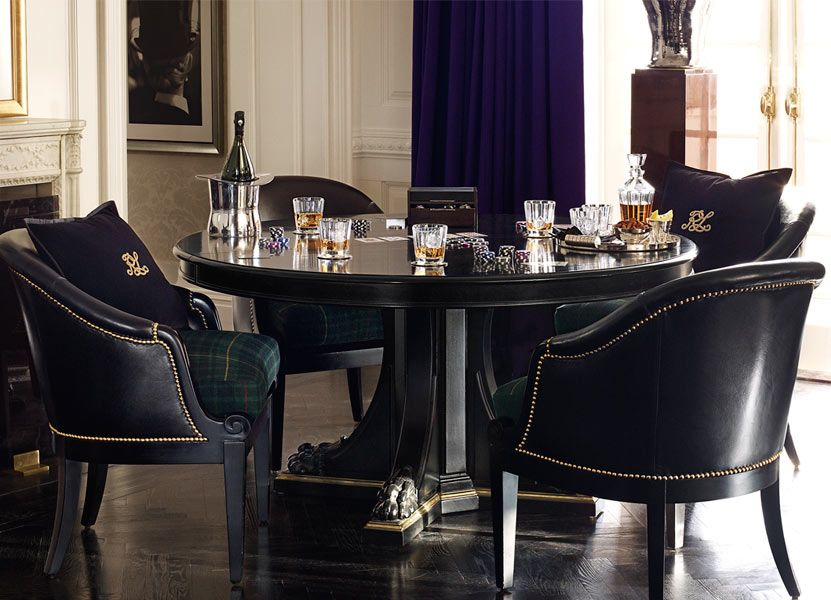 Ralph Lauren Inspired Dining Room L Masculine Game Table