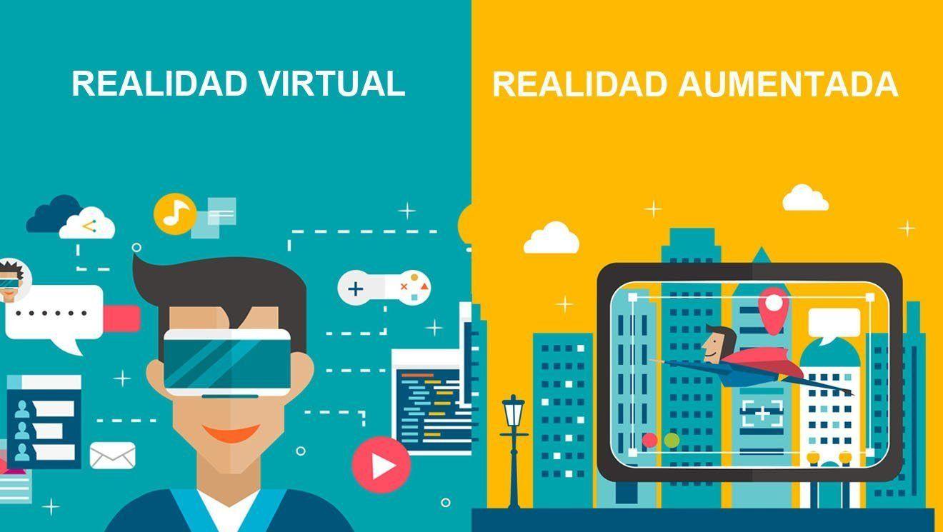 Diferencias entre la realidad virtual y realidad aumentada | Realidad  aumentada, Realidad virtual, Aplicaciones de realidad aumentada