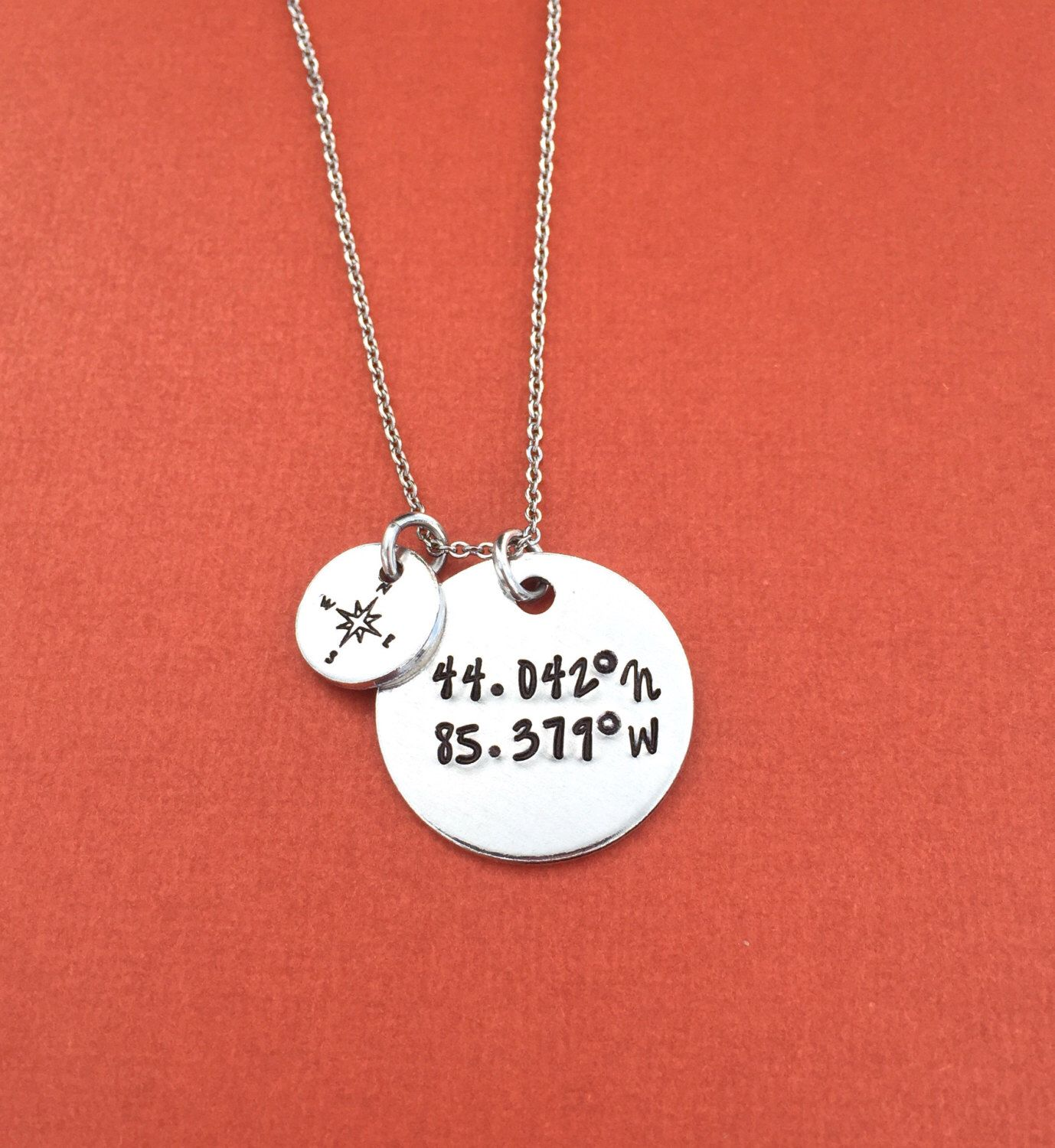 coordinates pendant loop posh jewelry gps or latitude mommy longitude gpscoordinatesposhloop collections