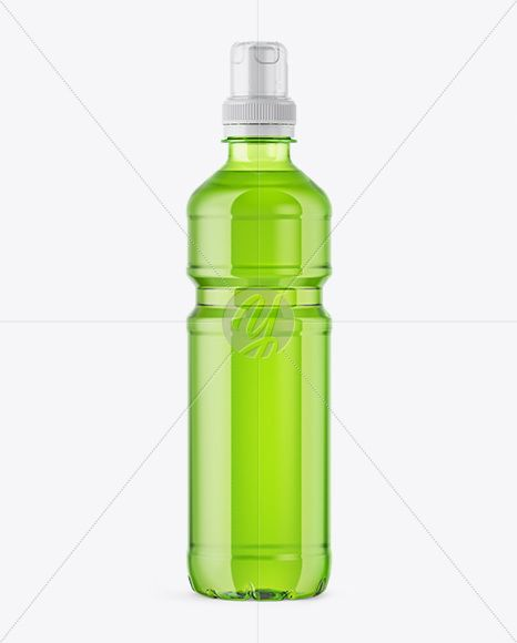 Download Green Plastic Bottle With Sport Cap Mockup In Packaging Mockups On Yellow Images Object Mockups Psd Template Free Bottle Bottle Mockup