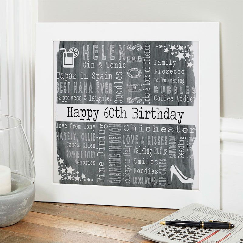 60th birthday gift for her of favourite things with