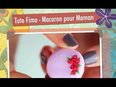 Tuto Fimo - Macaron pour Maman - YouTube