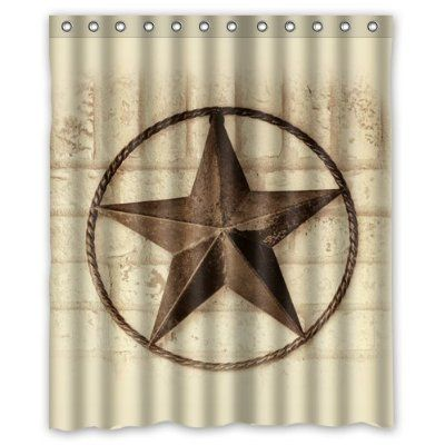 Creative Bath Western Texas Star Shower Curtains 60 X 72
