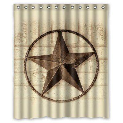 Creative Bath Western Texas Star Shower Curtains 60 X 72 Creative Bath Shower Curtain Sets Star Shower
