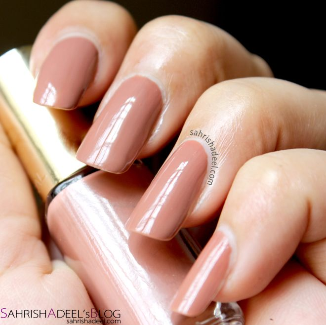 L\'Oreal Colour Riche Nail Polish in 107 Beige Boheme - Review ...