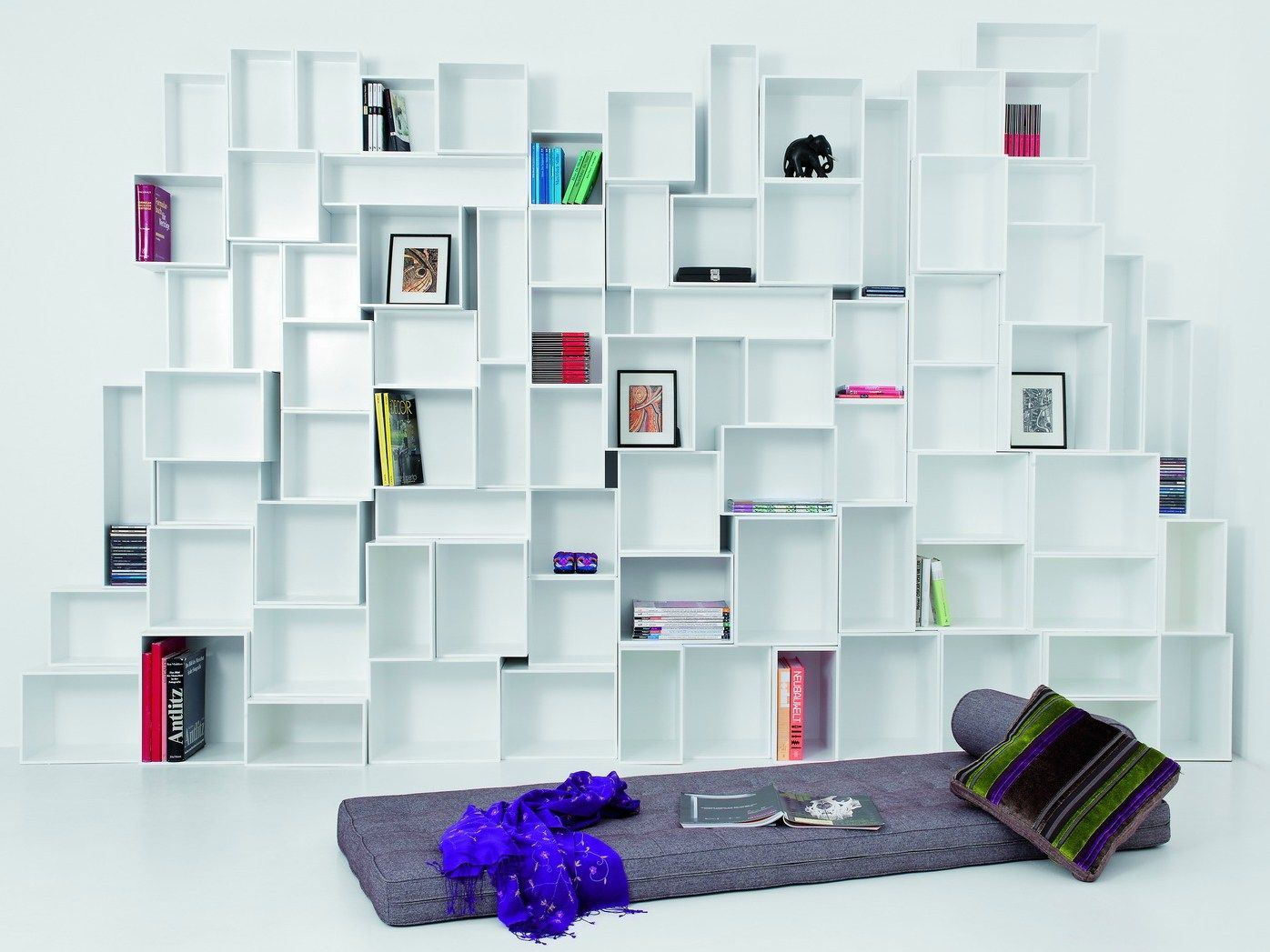 Cubit White Wooden Modular Shelving Unit Built In Bookshelves . Impressing  Modern Shelving Units For Your Inspiration To Make Over Your Room. Awesome Design
