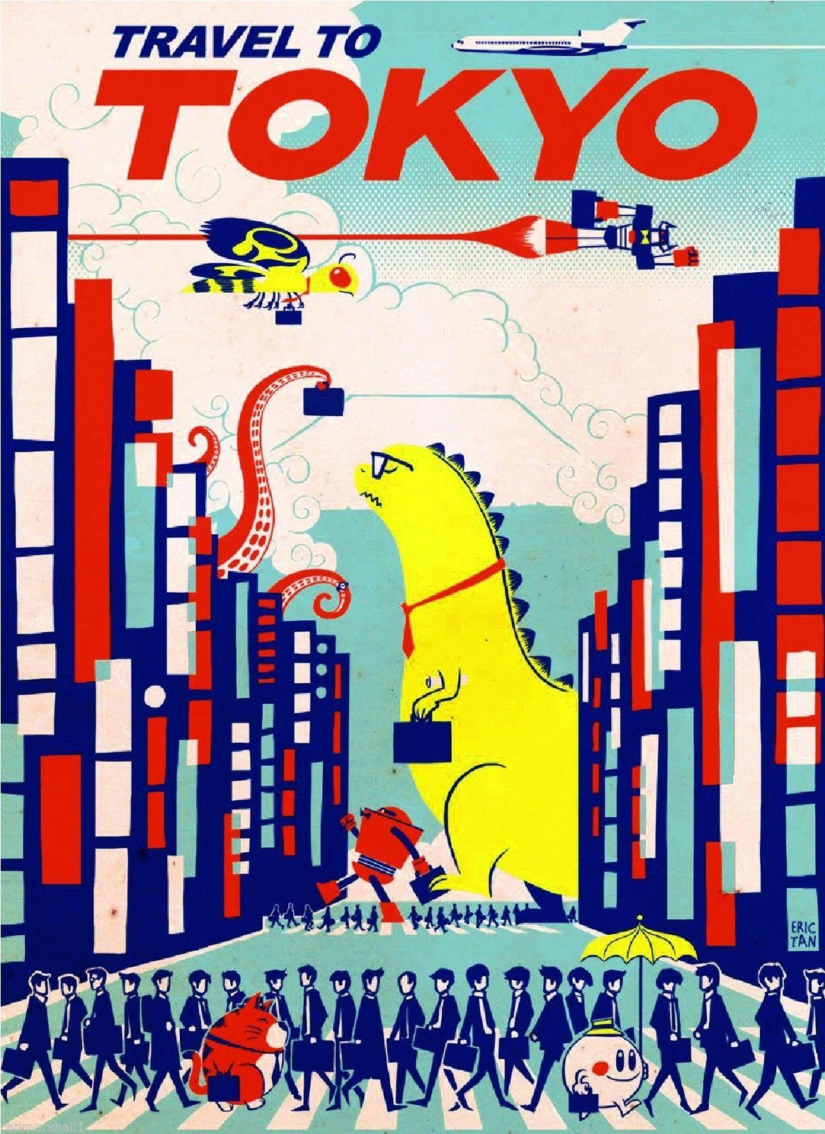 Travel to Tokyo by Clipper Godzilla Japanese Japan ...