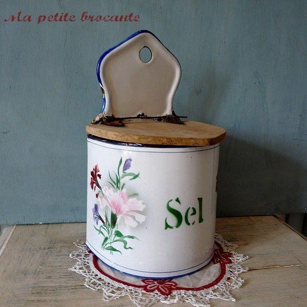 Boîte à Sel Ancienne Japy Décor N° 141 Oeillets