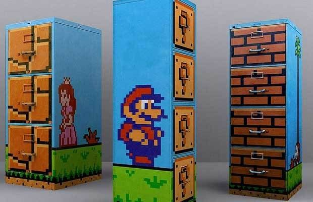 25 Pieces Of Cool Video Game Inspired Furniture5 Mario Filing