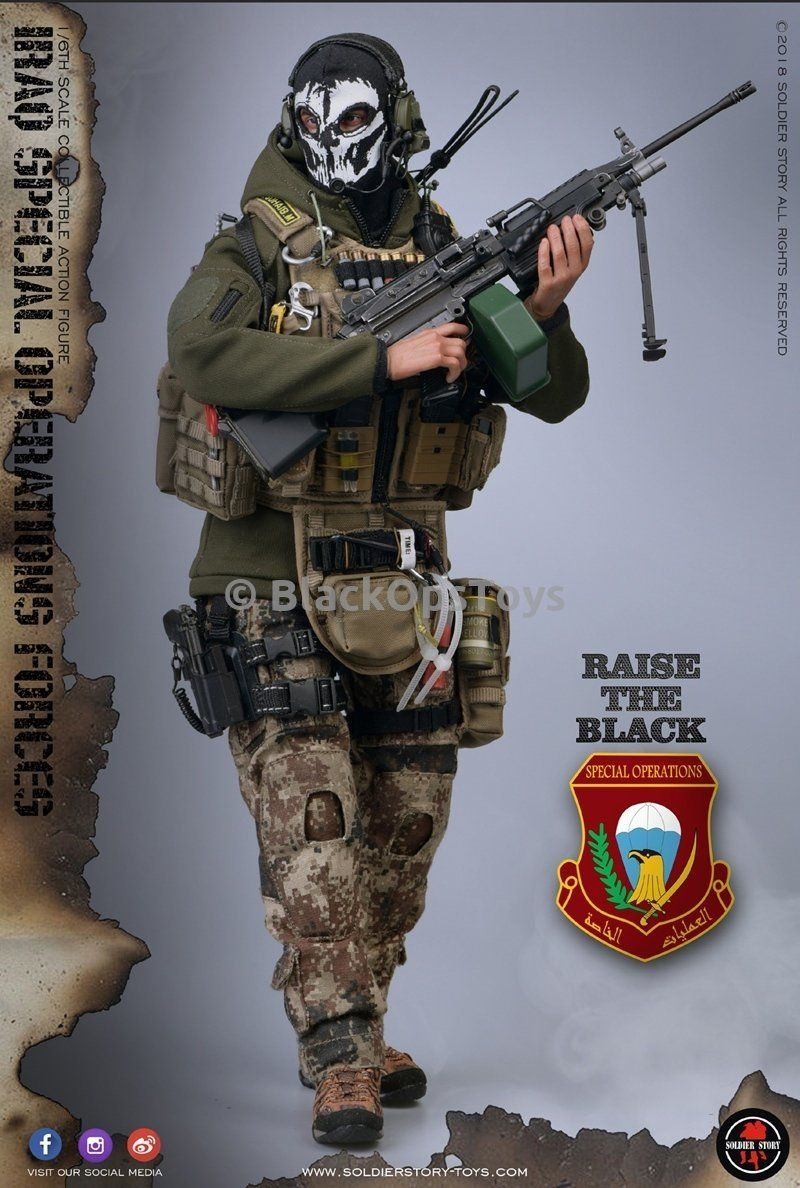 """SoldierStory SS 105 1//6 Scale ISOF Iraqi Special Forces mask F 12/"""" Action"""
