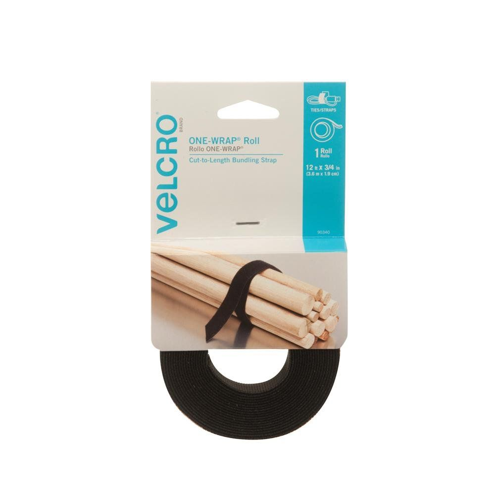 Velcro Brand One Wrap Roll Double Sided Self Gripping Multi Purpose Hook And Loop Tape Reusable 12 X 3 4 Roll Black Read More At Hook And Loop Tape