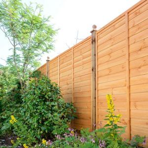 Pack of 5 6x6 Forest Garden Trade Lap Fence Panel 1.83M High