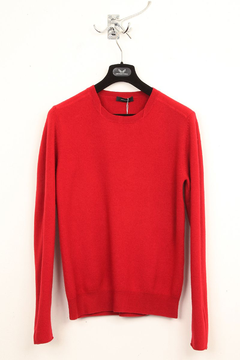 UNCONDITIONAL / UNCONDITIONAL RED BOILED WOOL ROUND NECK JUMPER.