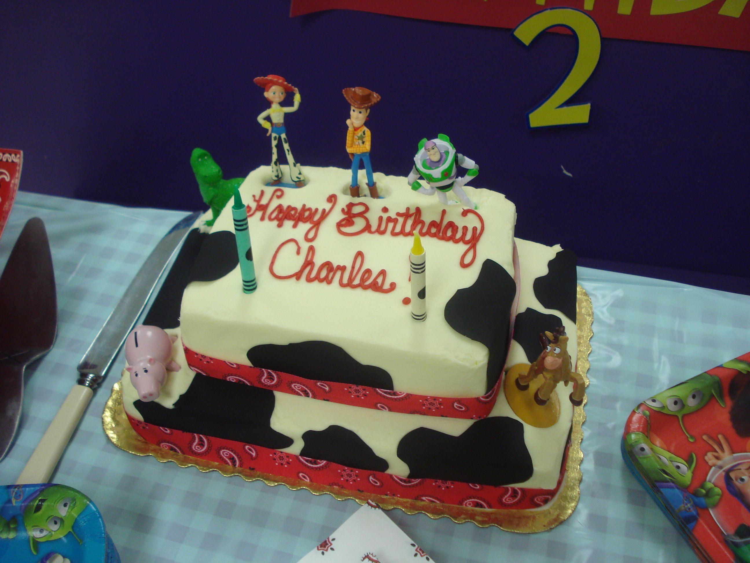 Jessie from toy story bedding - Semi Diy Woody Jessie Inspired Cake A Grocery Store 1 8