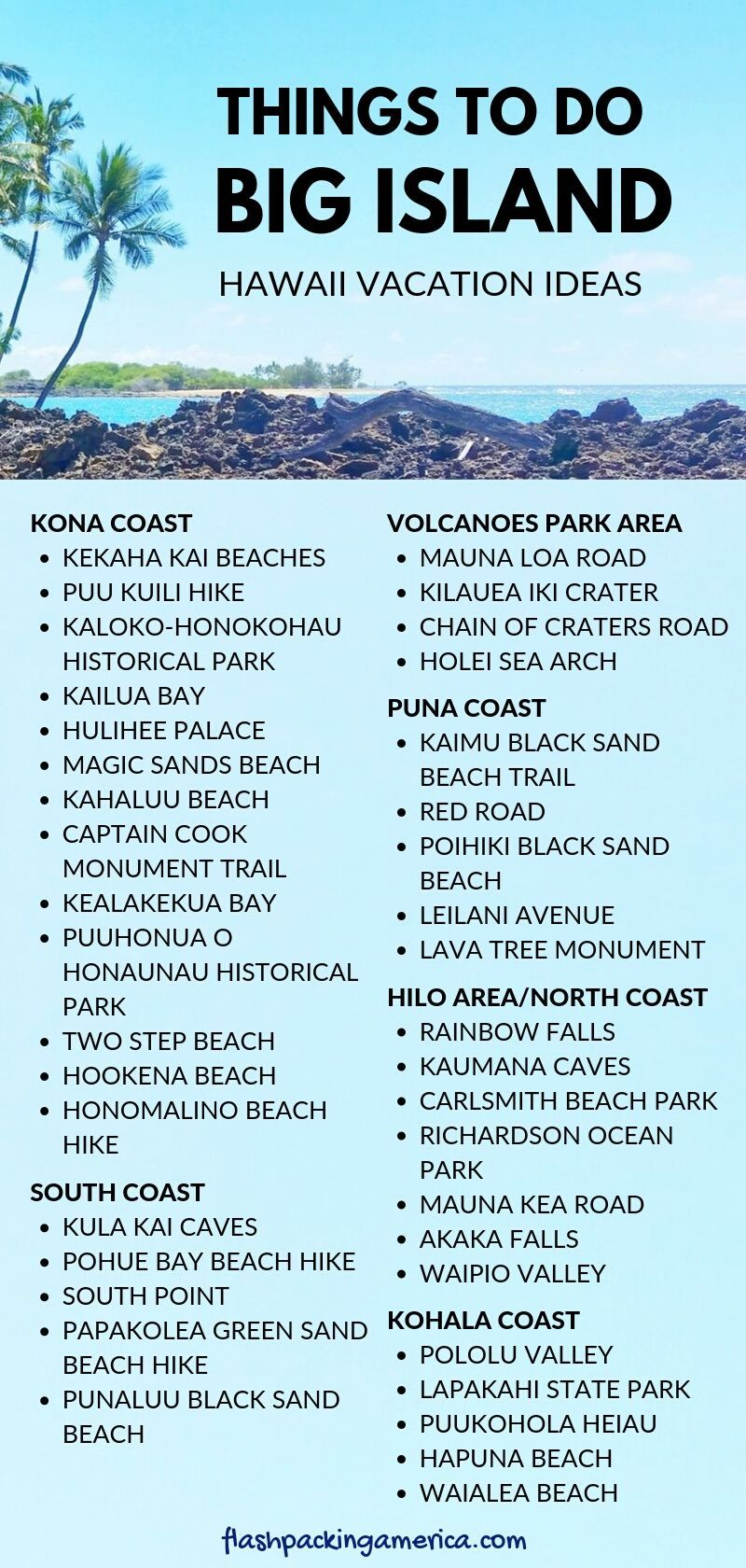 40+ things to do on Big Island (mostly FREE!) for first trip to Hawaii 🌴 Big Island travel blog   Flashpacking America