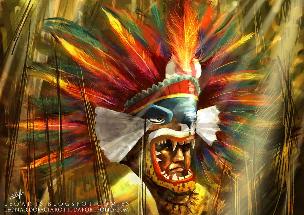 Aztec Warrior For Guerra De Mitos