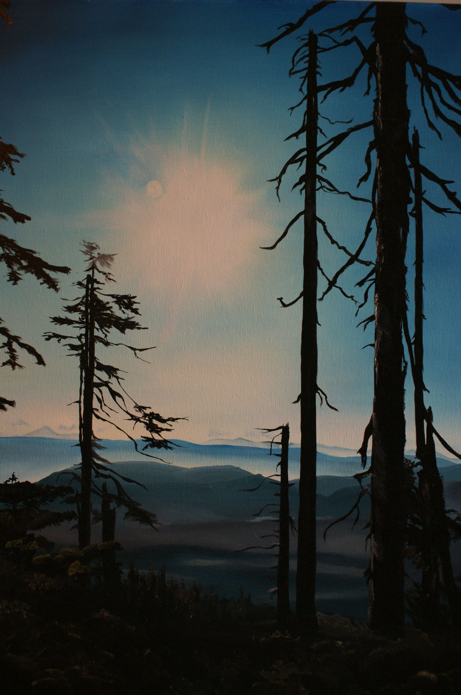 Mount Apps, near Port Alberni on Vancouver Island. Painted