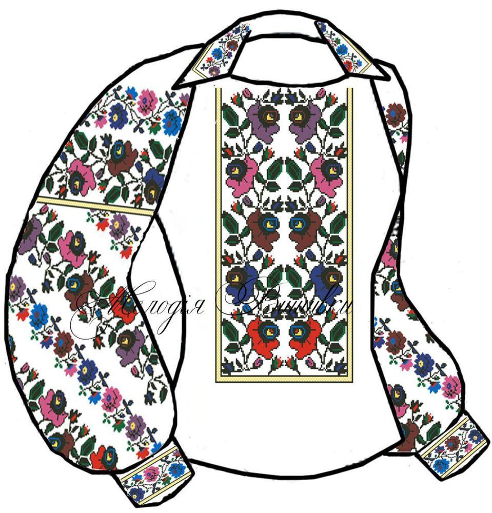 Заготовка для вишивки жіночої сорочки (СЖ-109)