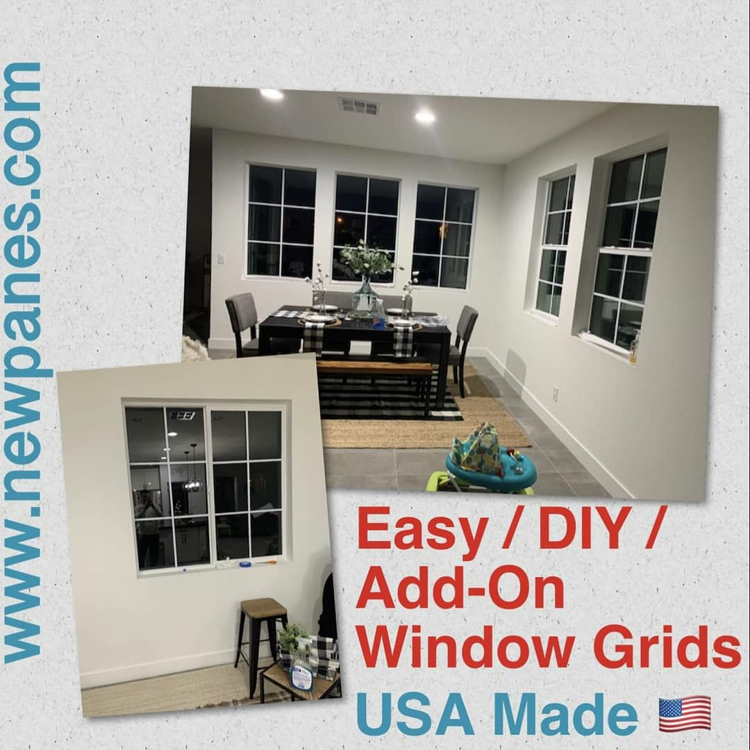 How To Easily Add Window Grids A Fraction Of The Cost Of New Windows In 2020 Window Grids Patio Doors Doors