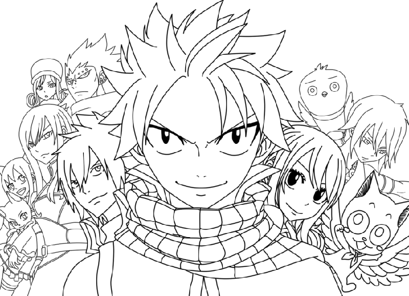 animate coloring pages from fairy tail | fairy tail color pages printable | K5 Worksheets ...