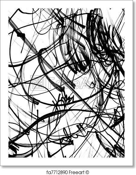 Scribbles Artwork Art Print From Freeart Com In 2019