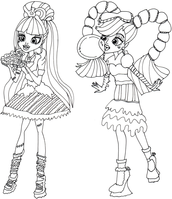 monster high coloring pages printable monster high cleo bw by