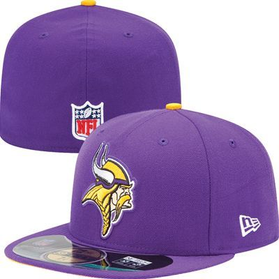 Minnesota Vikings Official NFL On Field 59Fifty New Era Hat (Purple ... 7502ee37052