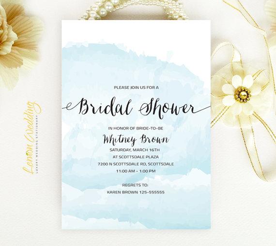 Watercolor Nautical Wedding Shower Invitations Cheap