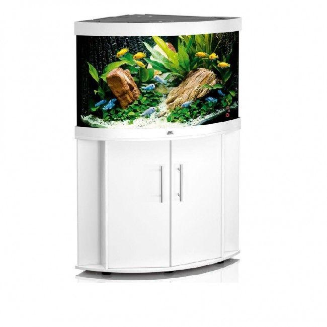 Corner Juwel Trigon 190 Aquarium And Cabinet In White