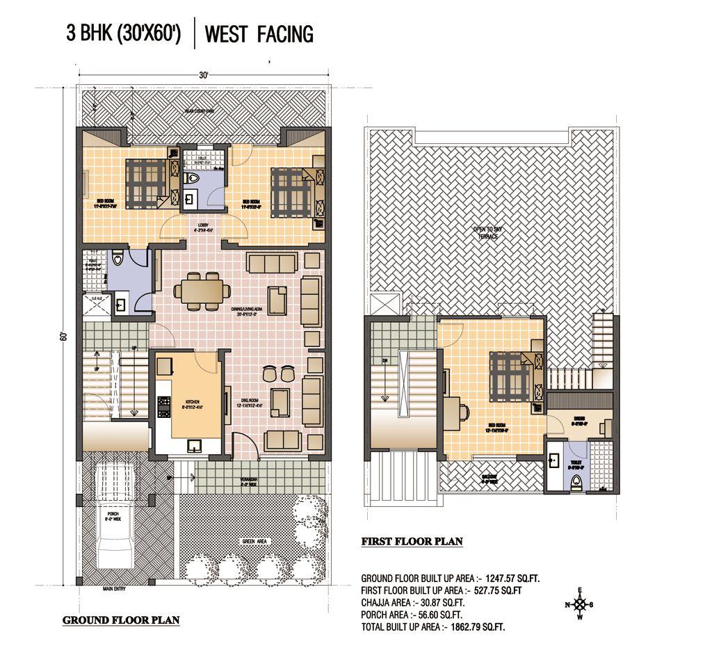 metal building house plans 30x70 | Renderd Plan (30\'X60\') West ...