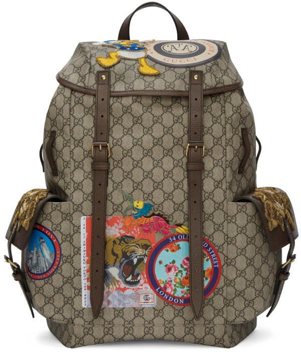 a78fc585ae90 Gucci Beige GG Supreme Donald Duck Backpack | BAGS | Men's backpack ...