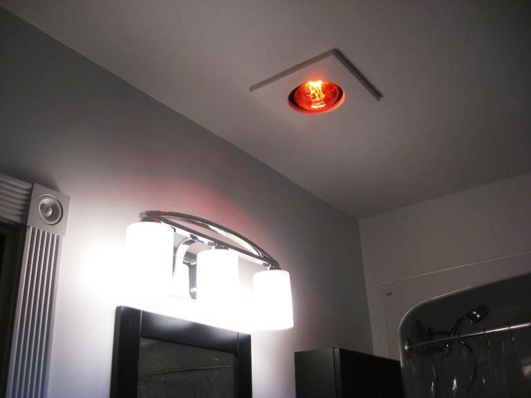 Shower Heat Lamp Recessed Fixture