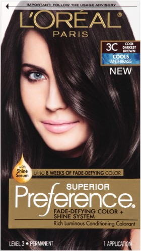 L Oreal Paris Superior Preference Hair Color Cool Darkest Brown