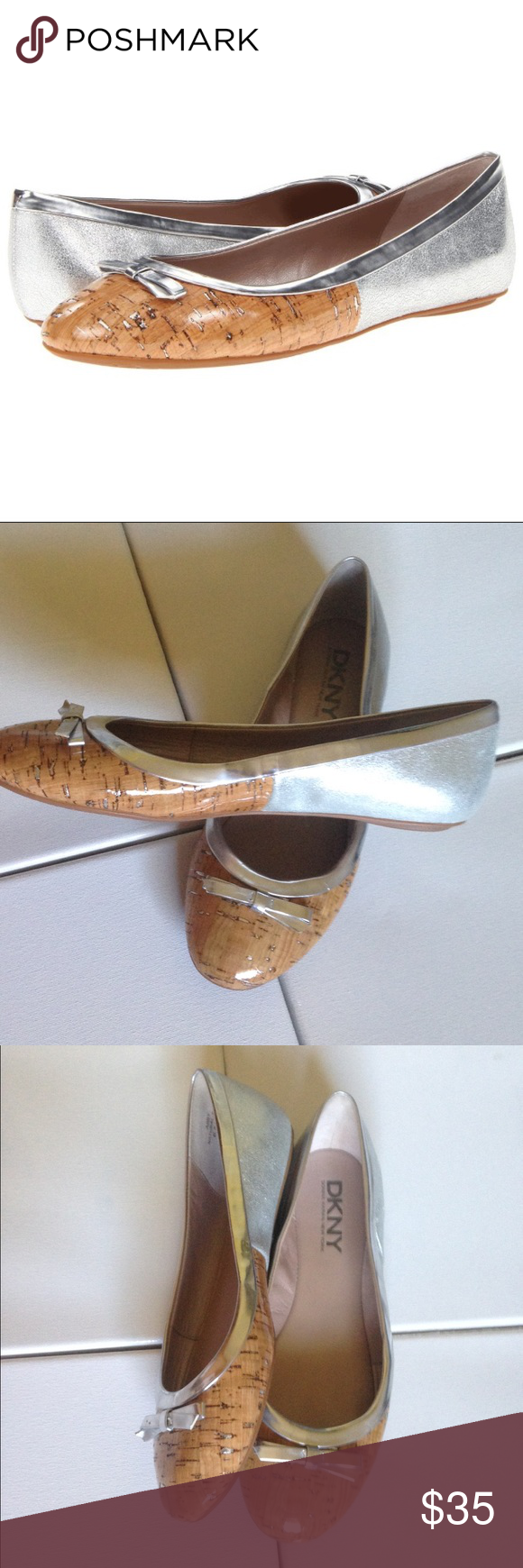"DKNY ""Abby"" flats Super cute DKNY flats, the style is ""Abby"" in silver. In new condition! DKNY Shoes Flats & Loafers"