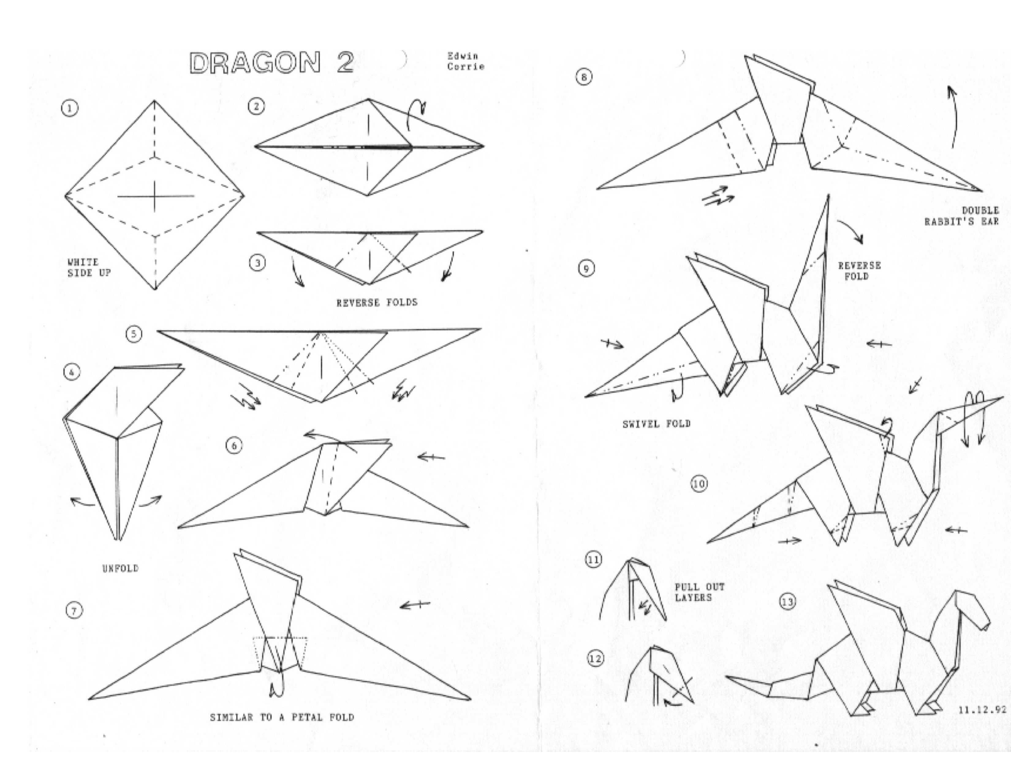 Origami Printable Templates Best Of Funky Origami