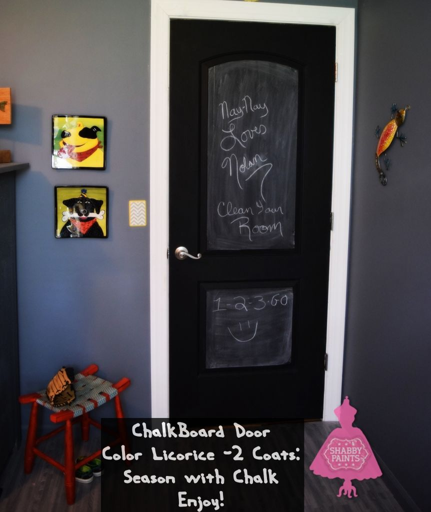 Non Toxic Interior Paint: Black Doors And A Chalkboard