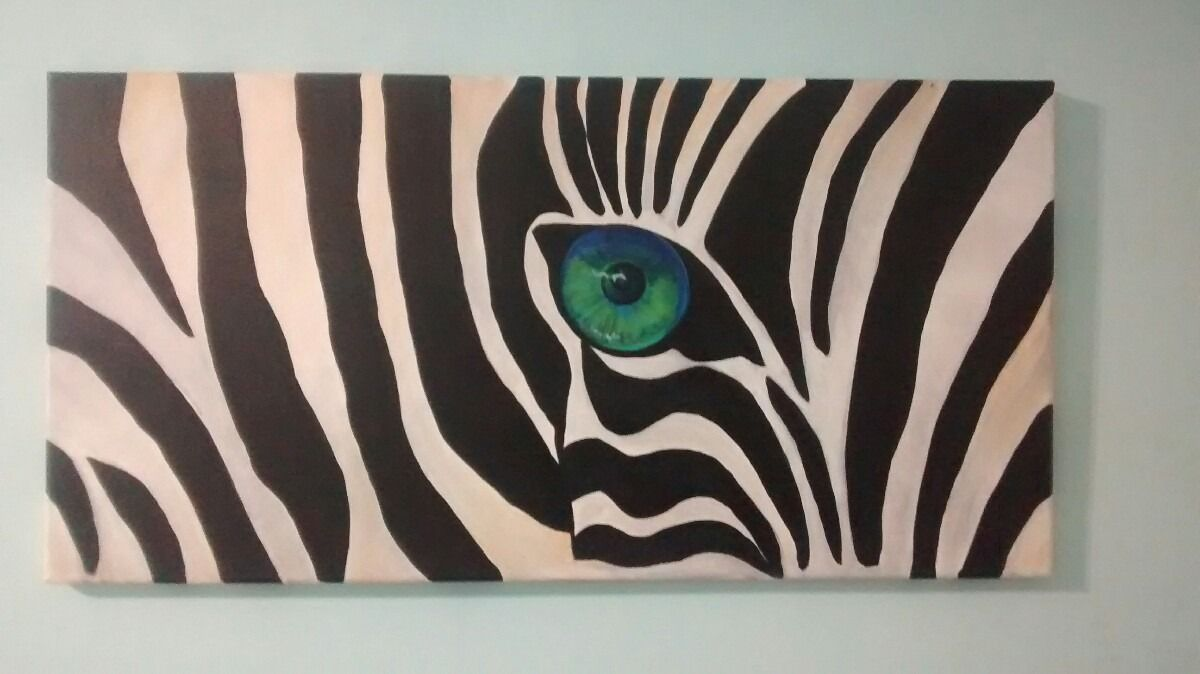 Cuadro minimal cebra ojo 40x80 en mercadolibre pinturas varias pinterest - Cuadros de cebras ...