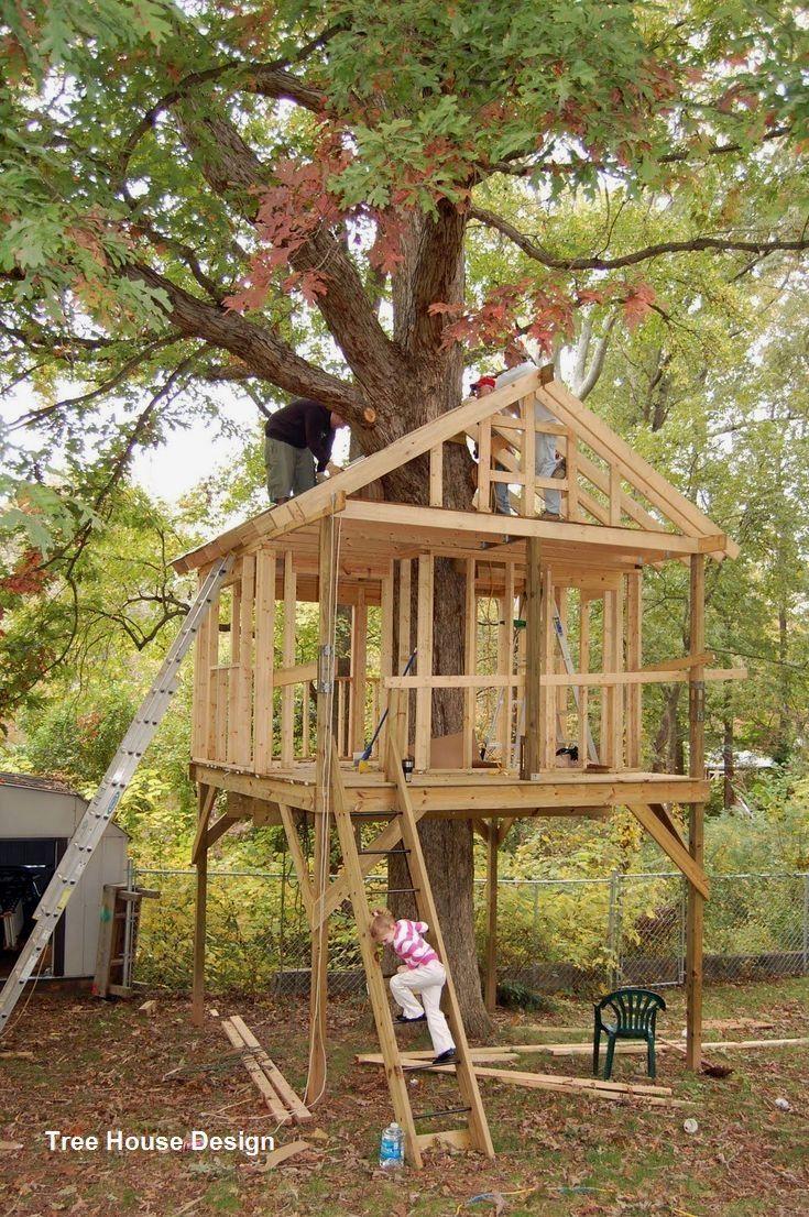 Best Tree House Designs In 2020 Tree House Diy Tree House Kids