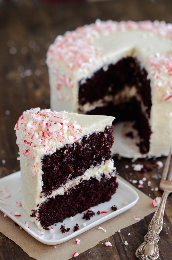 Chocolate cake candy cane recipe