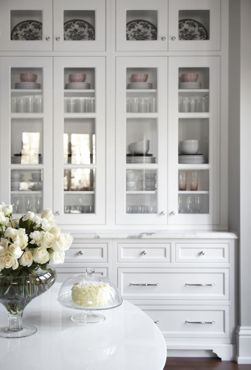 Beautiful White Kitchen Inset Cabinets Glass Doors Marke Countertops