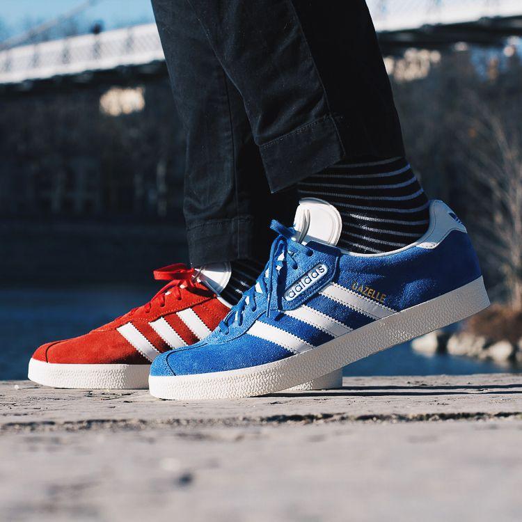Adidas Originals Gazelle super azul y rojo zapatillas hombres già y