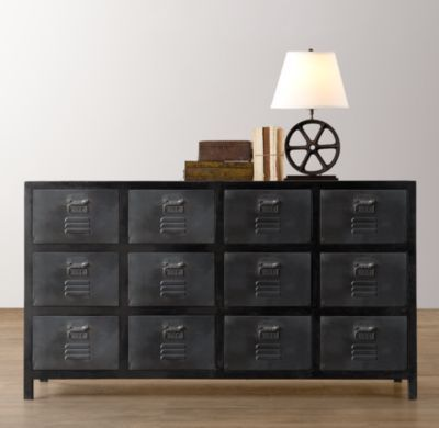 Vintage Locker Wide Dresser