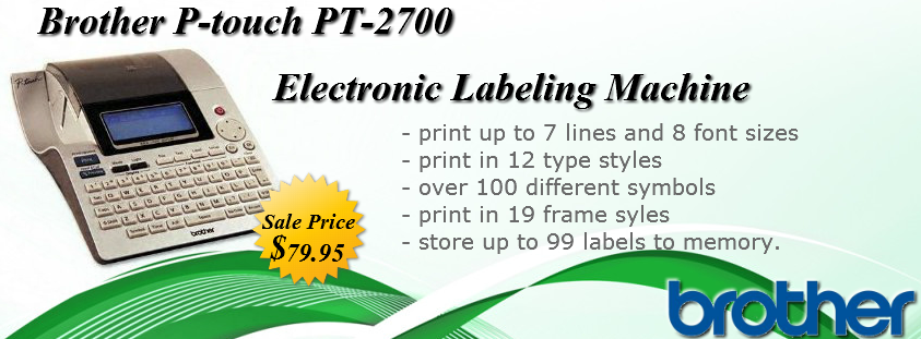 Buy Brother P Touch Pt 2700 Electronic Labeling Machine Item No