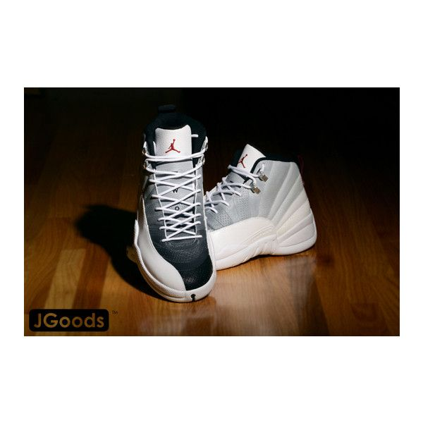 Custom Nike Air Jordan XII Fadeaway by JGoods ❤ liked on Polyvore ... df01be793