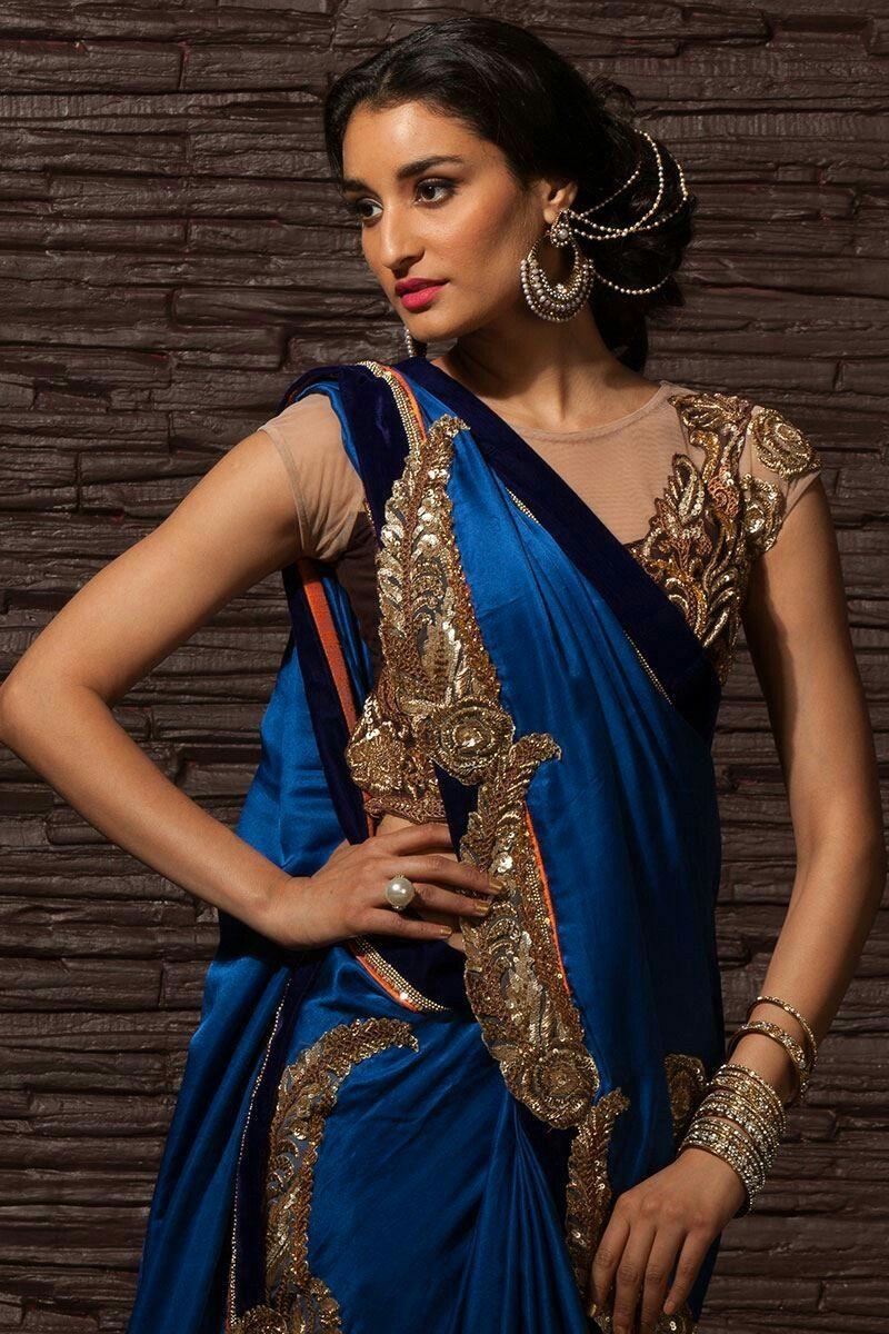 Pin by Bala on Blue Saree, Indian women, Blouse designs